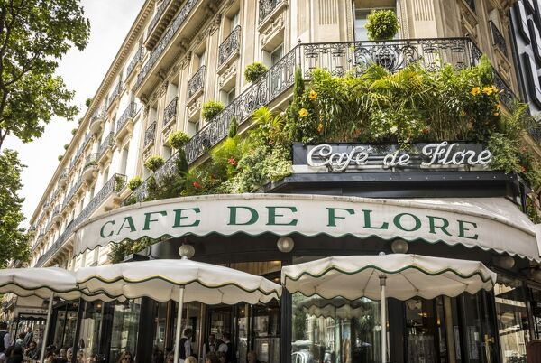 Cafe de Flore, Boulevard St Germain, Rive Gauche, Paris, France