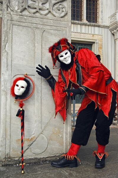 Carnival Joker Costumes and Mask. Italy Veneto Venice Venice Carnival Joker Costumes and Mask