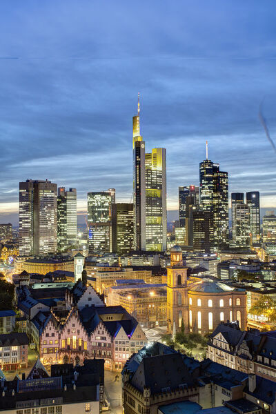 City skyline, Frankfurt-am-Main, Hessen, Germany