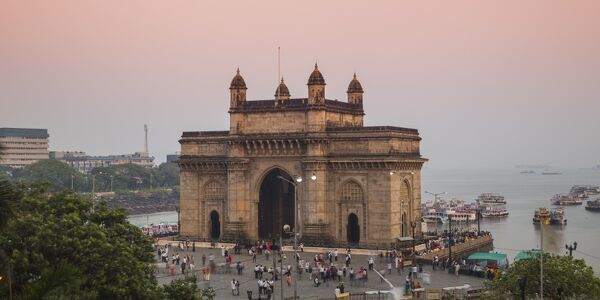 India, Maharashtra, Mumbai, View of Gateway of India