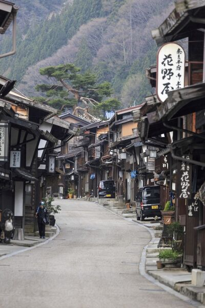 Japan, Gifu Prefecture, Takayama Old Town, one of the best preserved Edo time Town