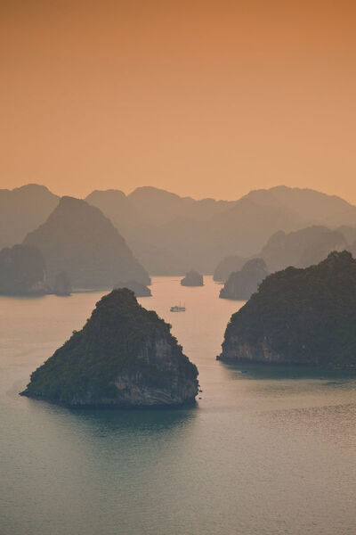 Landscape view over Halong Bay, Vietnam