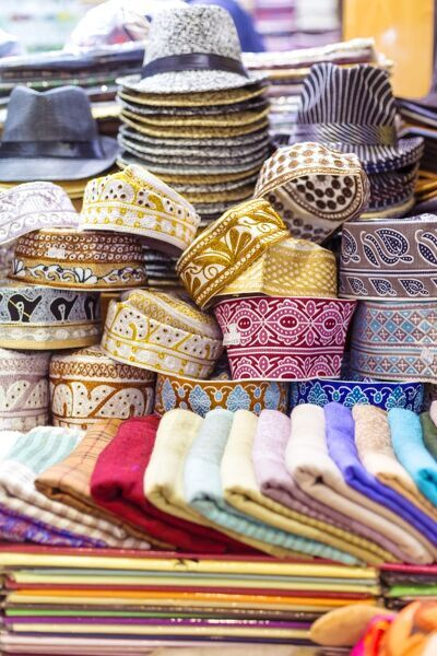 Oman, Muscat. Souvenirs for sale at a shop in the old souk of Mutrah