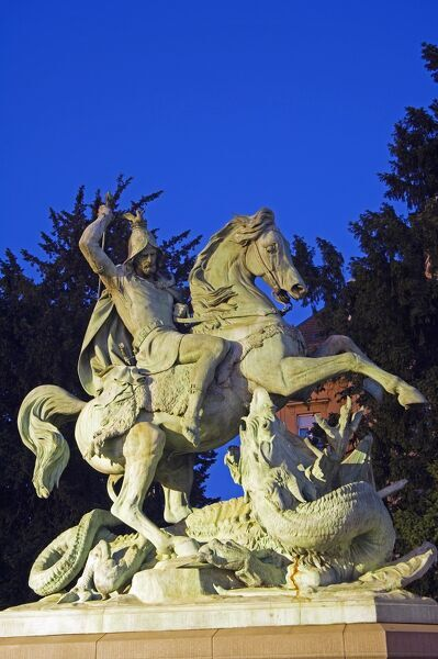 Statue of St George and the Dragon The Balkans Croatia Zagreb (Capital City) Statue of St George and the Dragon