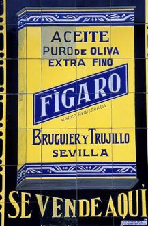 Antique tiled advertising