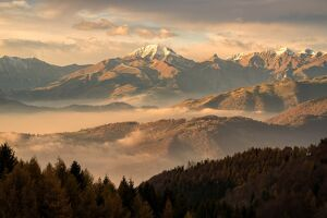 Autumn in Orobie alps, Bergamo province, Italy, Lombardy district, Europe