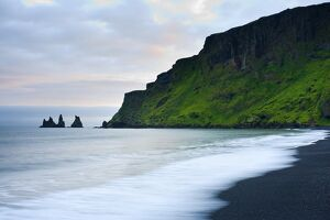 Black Sand Beach and Reynisdrangur Sea Stacks
