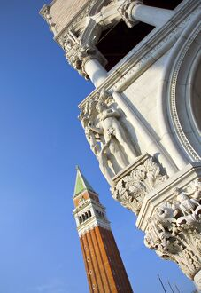 Campanile and Doges' Palace, St Mark's Square, Venice, Italy