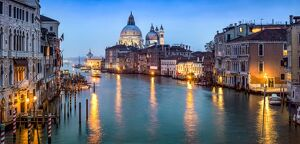 Canal Grande with view towards Santa Maria Della Salute, Venice, Italy