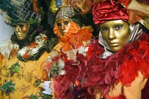 Carnival People in Costumes and Masks