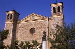 The Catholic church in Potes stands proud and strong over the town