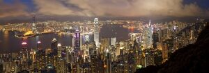 China, Hong Kong, view from Victoria Peak