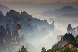 China, Hunan, Zhangjiajie National Forest Park, also called the Halleluja mountains
