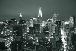 Chrysler Building & Midtown Manhattan Skyline, New York City, USA