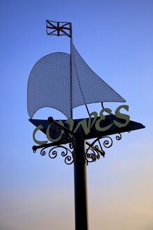 Cowes Sign, Cowes, Isle of Wight, United Kingdom