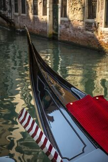 Gondolas on a canal in Venice, Vento, Italy