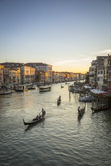Grand Canal near the Rialto bridge, Venice, Italy