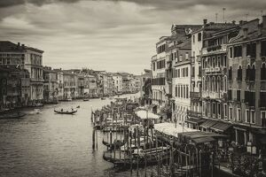 Grand Canal by the Rialto bridge, Venice, Italy