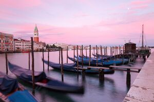 Grand Canal of Venice at sunset,Veneto,Venice district,Italy
