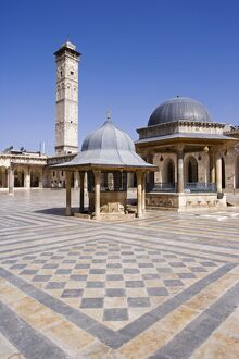 The Great Mosque in Aleppo was founded in the 8th century