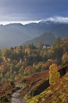 House on a hillside, Derwentwater, Lake District, Cumbria, England