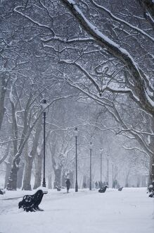 Hyde Park Snow Scene, London, England, UK