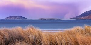 Ireland, Co.Donegal, Fanad, Ballymastoker bay at dusk