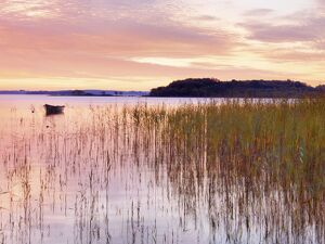 Ireland, Co.Mayo, Lough Conn at sunrise