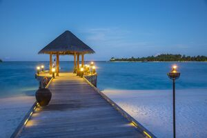Jetty on the Anantara Dhigu resort, South Male Atoll, Maldives
