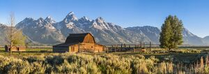 John Moulton historic barn, Mormon Row, Grand Teton National Park, Wyoming, USA