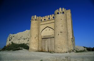 The Karakul Gate and the remains of the city walls