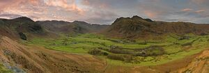 Langdale Pikes from Side Pike, Lake District, Cumbria, England
