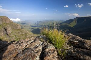 Lesotho, Sani Pass. The border with South Africa in the Drakensberg Mountain range