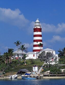 Lighthouse at Hope Town on the island of Abaco