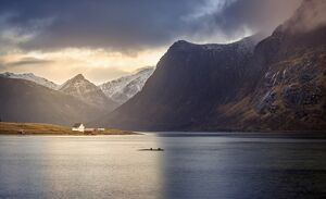 Lofoten Island landscape, Lofoten Islands, Norway