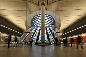 London Canary Wharf Tube Station as part of the Jubilee Line extension was designed