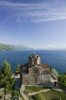 Macedonia, Ohrid, Sveti Jovan at Kaneo Church on Lake Ohrid
