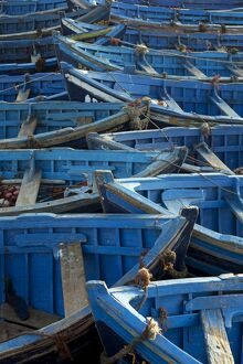 Morocco, Essaouira. The traditional fishing port. Influenced heavily both physically