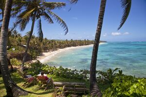 Nicaragua, Corn Islands, Little Corn Island, Coral and Iguana Beach