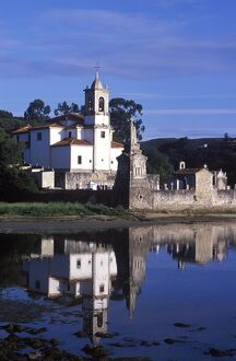 Niembro Church sits on the shore of a quiet inlet on the Asturian coast