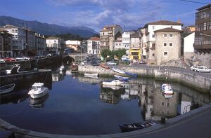 The old Harbour in Llanes is surrounded by mansions