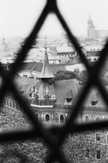 Old Town from Window of Wavel Cathedral, Krakow, Poland