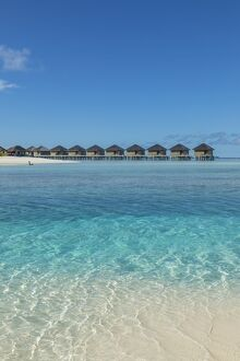 Overwater bungalows, Anantara Veli resort, South Male Atoll, Maldives
