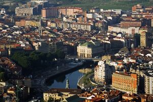 Panoramic City View looking over Bilbao River