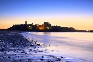 Peel Castle at Dusk, St. Patrick's Isle, Isle of Man