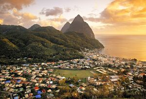 Pitons and Soufrierre, St