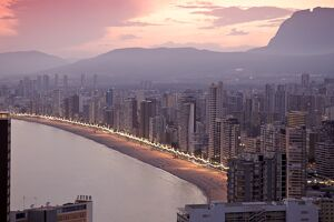Playa del Levante, Benidorm, Costa Blanca, Spain