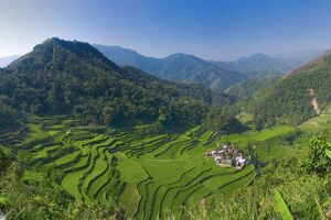 Rice terraces of Bangaan at Banaue, Luzon Island, Philippines