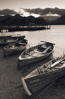 Rowing Boats, Derwent Water, Lake District, Cumbria, UK