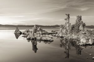 Salt pillar formations at sunset, South Tufa, Mono Lake, California, USA
